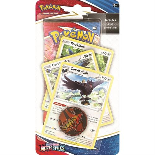 Pokemon Battle Styles - Premium Checklane Blister Rookidee, Corvisquire, Corviknight - Pokemon kort